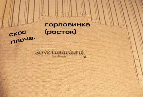 Обработка плечевых швов на вязаном изделии